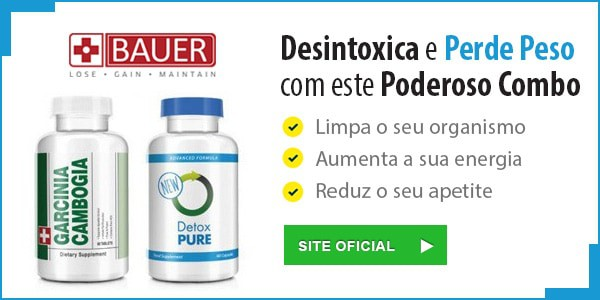 Garcinia Cambogia e Detox da Bauer Nutrition
