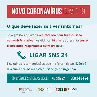 Sintomas COVID-19 SNS24