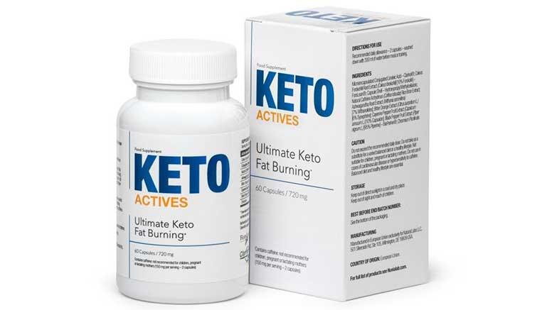 Frasco de Keto Actives
