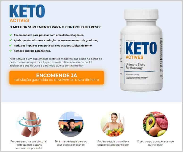 Site oficial do Keto Actives